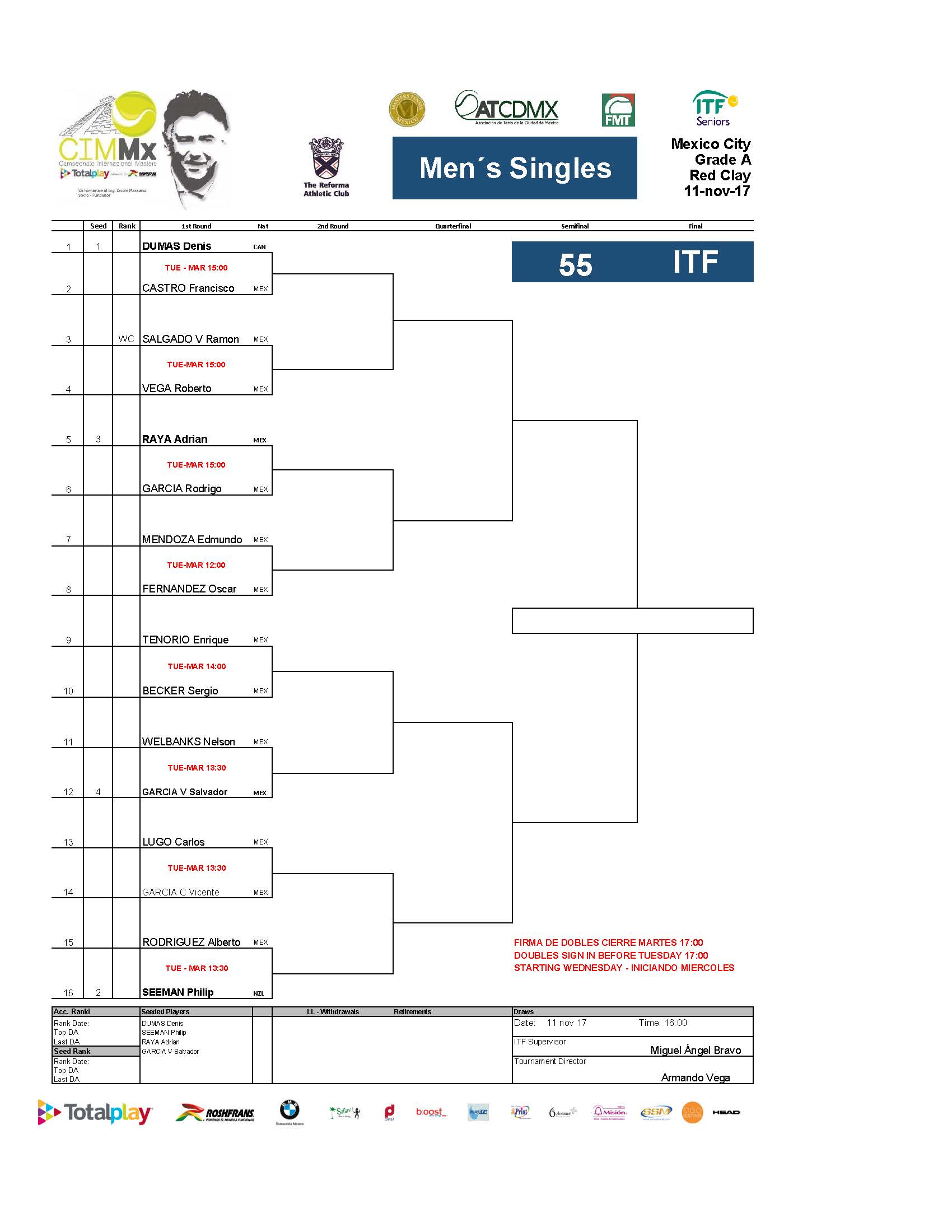 2   Draws ITF Pa Gina 11
