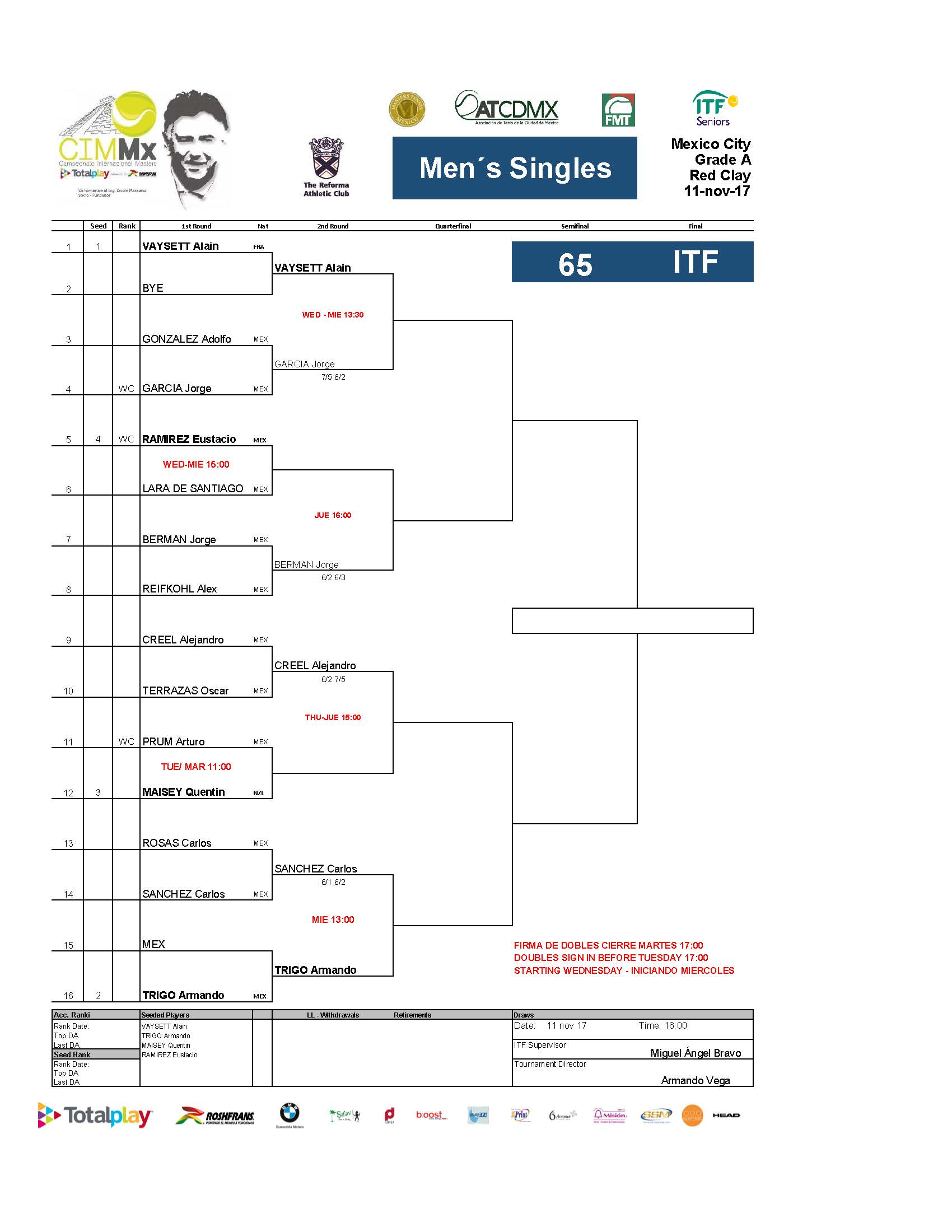 2   Draws ITF Pa Gina 13