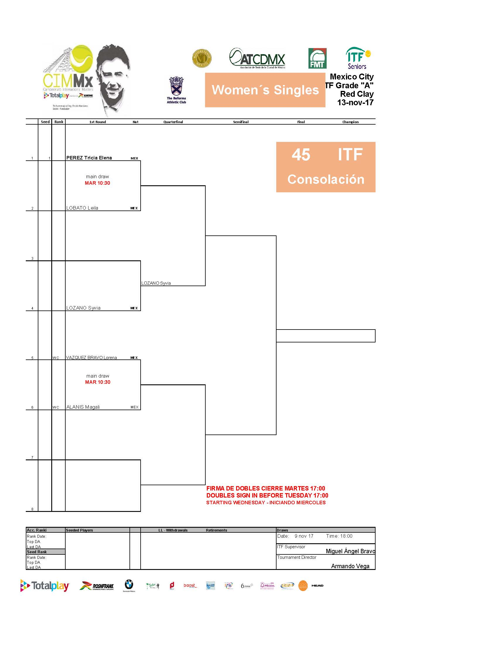 2   Draws ITF Pa Gina 18